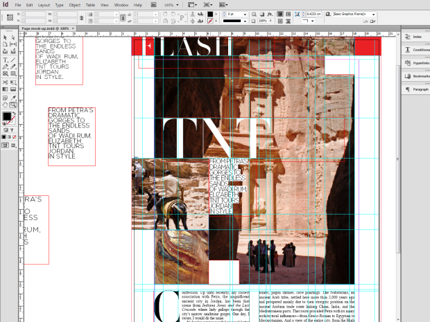 Vogue page recreation wip